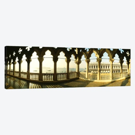Venetian Gothic Balcony, Doge's Palace (Palazzo Ducale), Venice, Italy Canvas Print #PIM267} by Panoramic Images Art Print