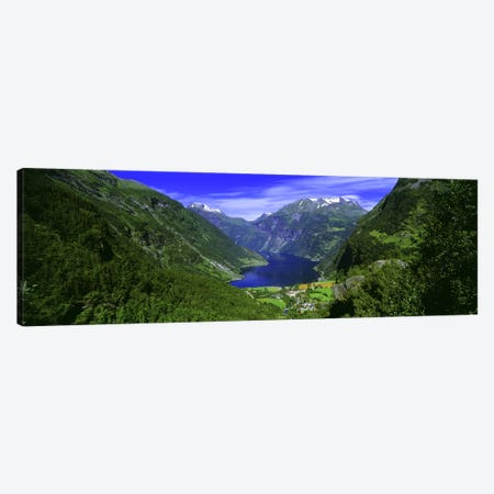 Geiranger Fjord, Sunnmore Region, More Og Romsdal, Norway Canvas Print #PIM2681} by Panoramic Images Canvas Art Print