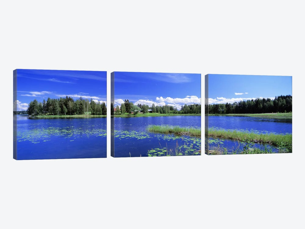 Sunny Daytime Landscape, Finnish Lakeland, Finland by Panoramic Images 3-piece Canvas Print