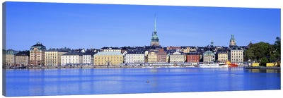 Wide-Angle View Of Gamla Stan (Old Town), Stockholm, Sweden Canvas Art Print