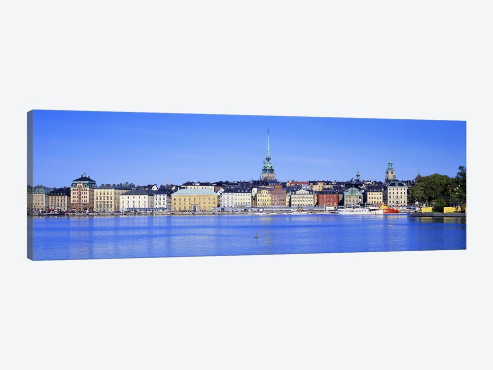 Wide-Angle View Of Gamla Stan (Old Town), Stockholm, Sweden 1-piece Canvas Artwork