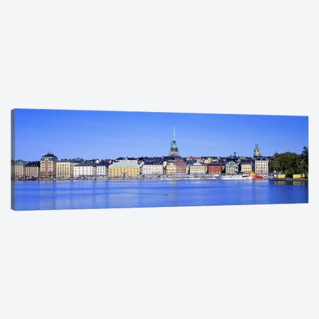 Wide-Angle View Of Gamla Stan (Old Town), Stockholm, Sweden 3-Piece Canvas #PIM2688} by Panoramic Images Art Print