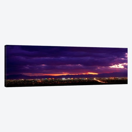 Storm, Las Vegas, Nevada, USA Canvas Print #PIM268} by Panoramic Images Canvas Art