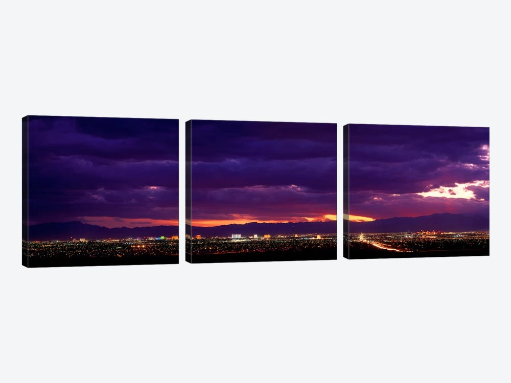 Storm, Las Vegas, Nevada, USA by Panoramic Images 3-piece Canvas Art Print