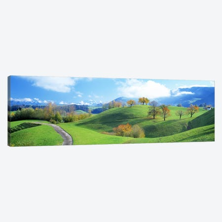 Rolling Countryside Landscape, Zug, Switzerland Canvas Print #PIM2692} by Panoramic Images Canvas Artwork