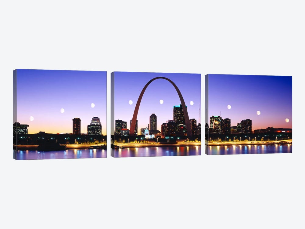 Skyline St Louis Missouri USA by Panoramic Images 3-piece Canvas Art