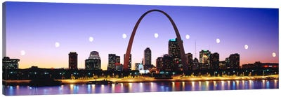 Skyline St Louis Missouri USA Canvas Art Print