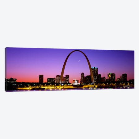 Gateway Arch & Downtown Skyline , St. Louis, Missouri, USA Canvas Print #PIM2696} by Panoramic Images Art Print