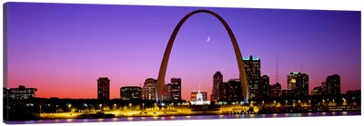 Gateway Arch & Downtown Skyline , St. Louis, Missouri, USA Canvas Art Print