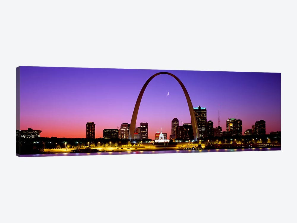 Gateway Arch & Downtown Skyline , St. Louis, Missouri, USA by Panoramic Images 1-piece Canvas Print