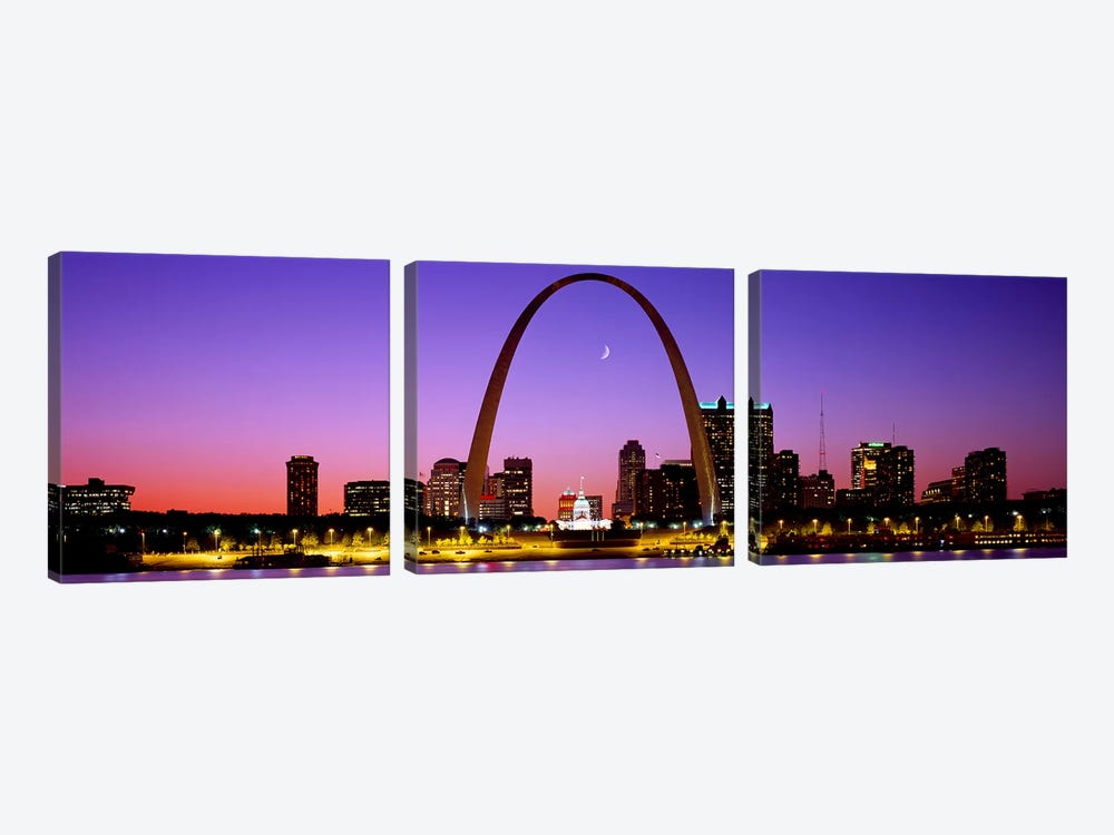Gateway Arch & Downtown Skyline , St. Louis, Missouri, USA by Panoramic Images 3-piece Art Print