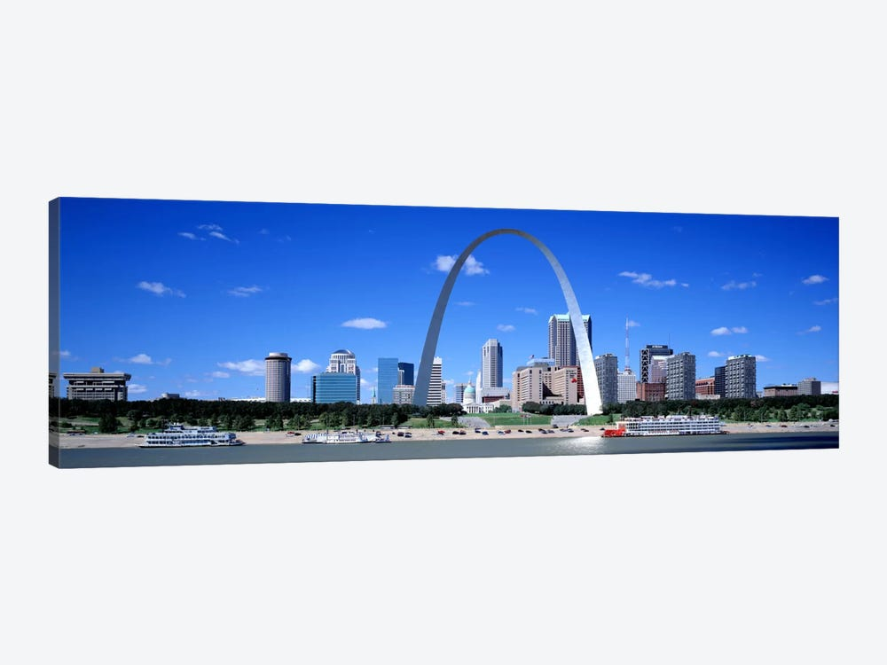 Skyline, St Louis, MO, USA by Panoramic Images 1-piece Canvas Artwork