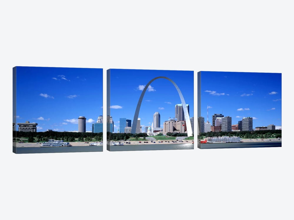 Skyline, St Louis, MO, USA by Panoramic Images 3-piece Canvas Wall Art