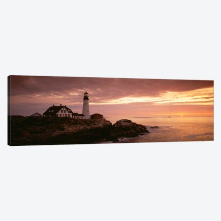Portland Head Lighthouse, Cape Elizabeth, Maine, USA Canvas Print #PIM2700} by Panoramic Images Canvas Art