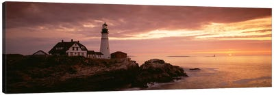 Portland Head Lighthouse, Cape Elizabeth, Maine, USA Canvas Art Print
