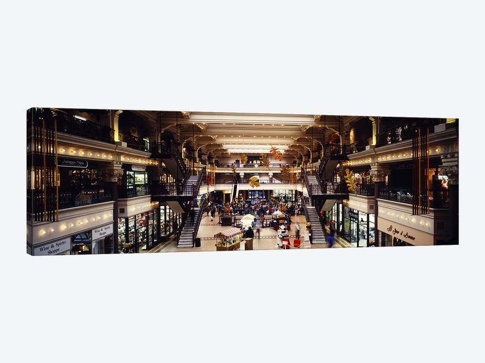 Interiors of a shopping mall, Bourse Shopping Center, Philadelphia, Pennsylvania, USA by Panoramic Images 1-piece Canvas Art