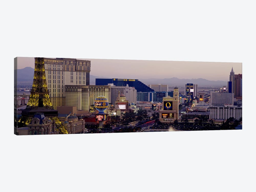 High angle view of buildings in a city, Las Vegas, Nevada, USA by Panoramic Images 1-piece Canvas Art Print