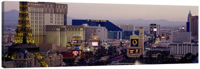 High angle view of buildings in a city, Las Vegas, Nevada, USA Canvas Art Print