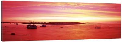 Sunrise Chatham Harbor Cape Cod MA USA Canvas Art Print