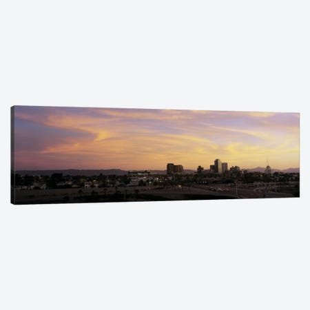 Sunset Skyline Phoenix AZ USA Canvas Print #PIM2706} by Panoramic Images Canvas Print