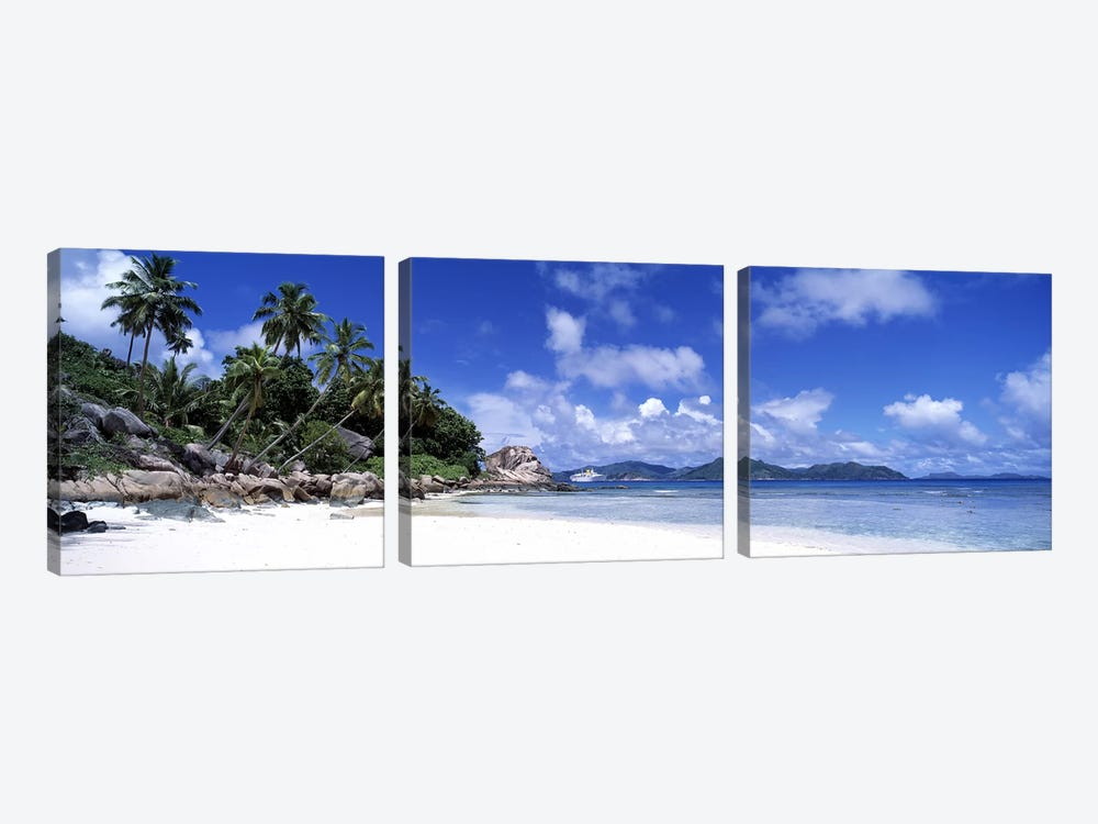 La Digue Island Seychelles by Panoramic Images 3-piece Canvas Print