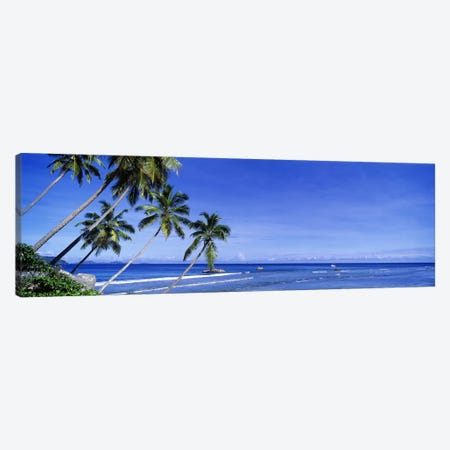Coastal Palms, La Digue, Republic Of Seychelles Canvas Print #PIM2709} by Panoramic Images Canvas Art