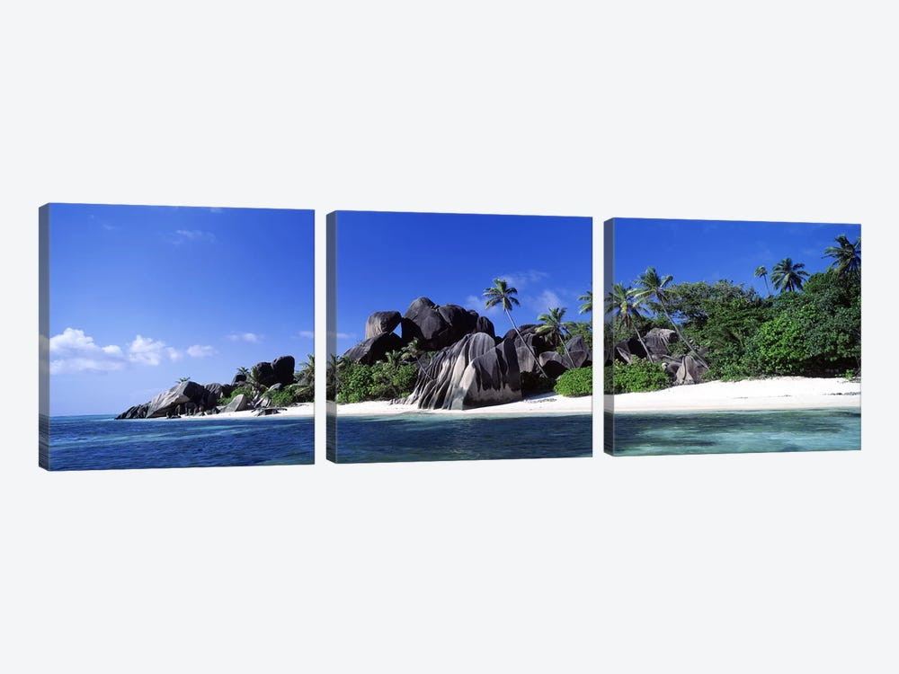 La Digue Island Seychelles by Panoramic Images 3-piece Canvas Art