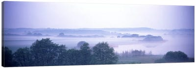 Foggy Landscape Northern Germany Canvas Print #PIM2711