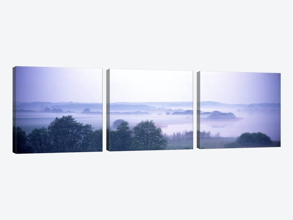 Foggy Landscape Northern Germany by Panoramic Images 3-piece Canvas Print