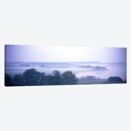 Foggy Landscape Northern Germany Canvas Print #PIM2711} by Panoramic Images Art Print
