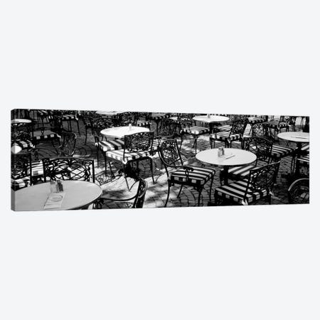 Street Cafe, Frankfurt, Germany Canvas Print #PIM2714} by Panoramic Images Canvas Artwork