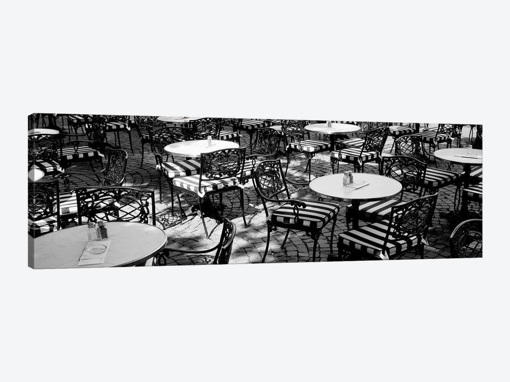 Street Cafe, Frankfurt, Germany by Panoramic Images 1-piece Canvas Wall Art