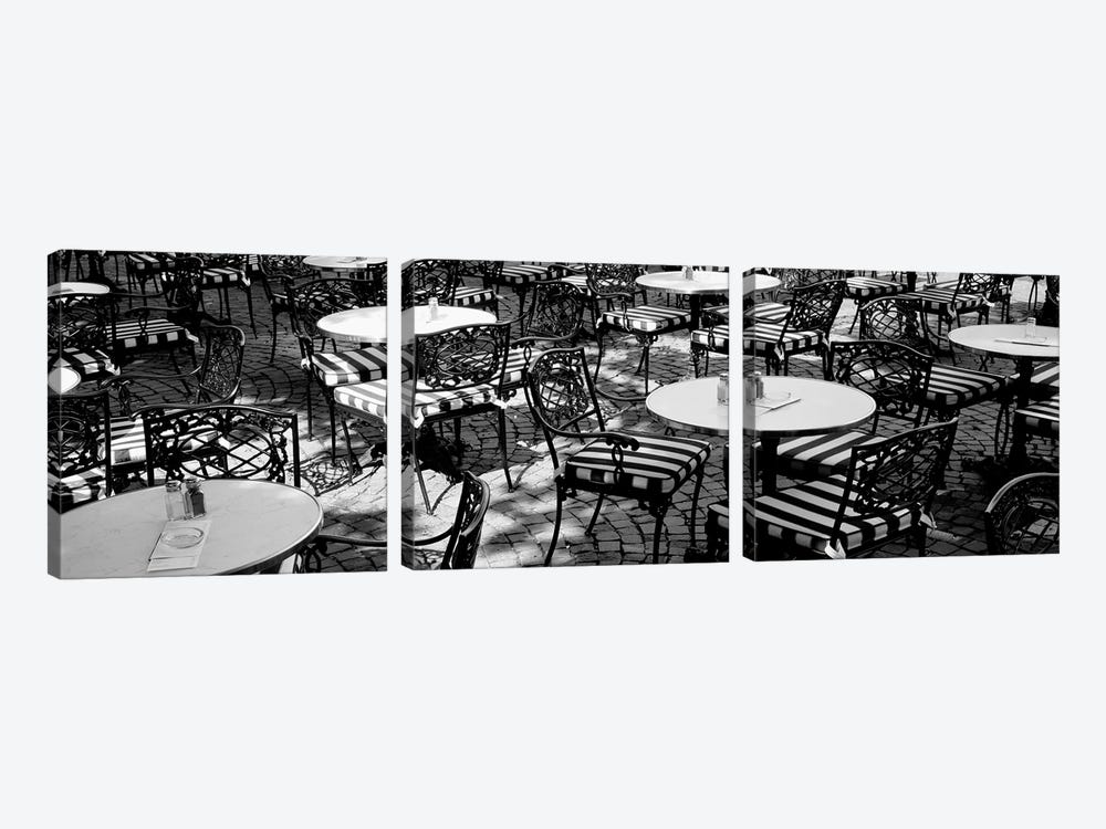 Street Cafe, Frankfurt, Germany by Panoramic Images 3-piece Canvas Wall Art