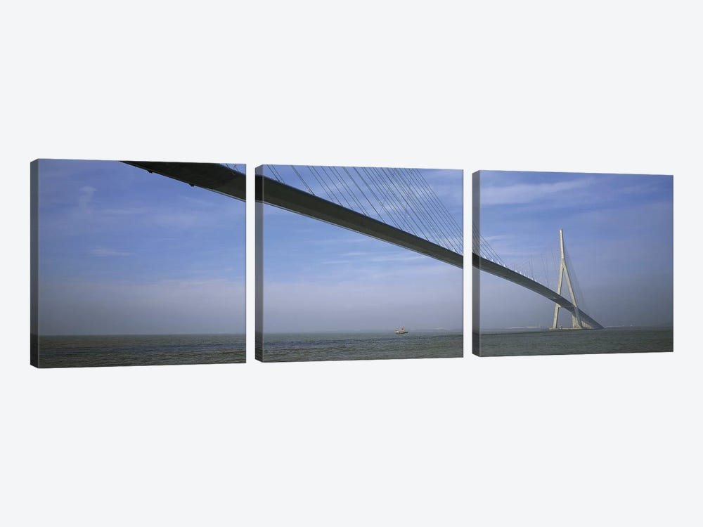 Pont de Normandy Normandy France by Panoramic Images 3-piece Canvas Print