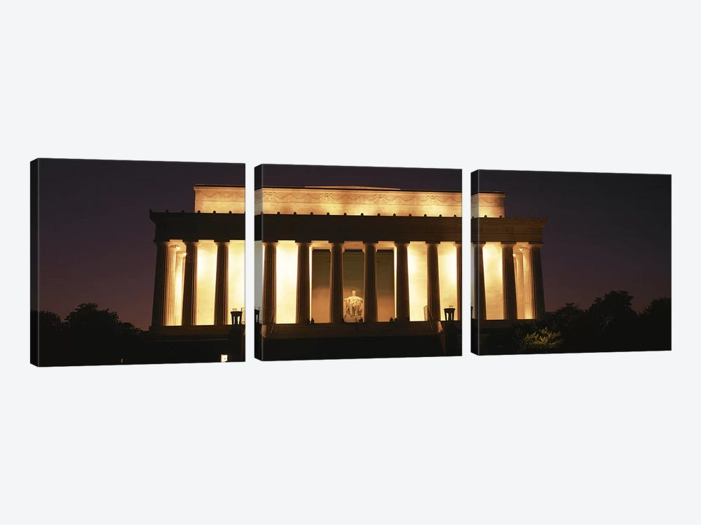 Lincoln Memorial Washington DC USA by Panoramic Images 3-piece Canvas Artwork