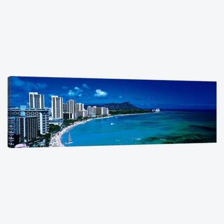 Waikiki Beach Honolulu Oahu HI USA Canvas Print #PIM2732} by Panoramic Images Canvas Art Print