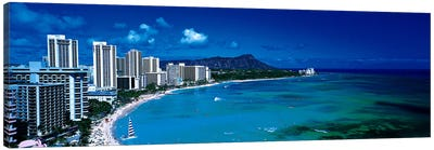 Waikiki Beach Honolulu Oahu HI USA Canvas Print #PIM2732