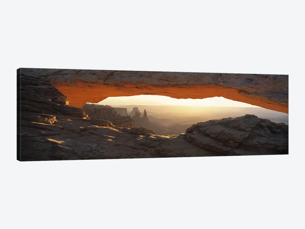 Glowing Daytime View Through Mesa Arch, Canyonlands National Park, Utah, USA by Panoramic Images 1-piece Art Print