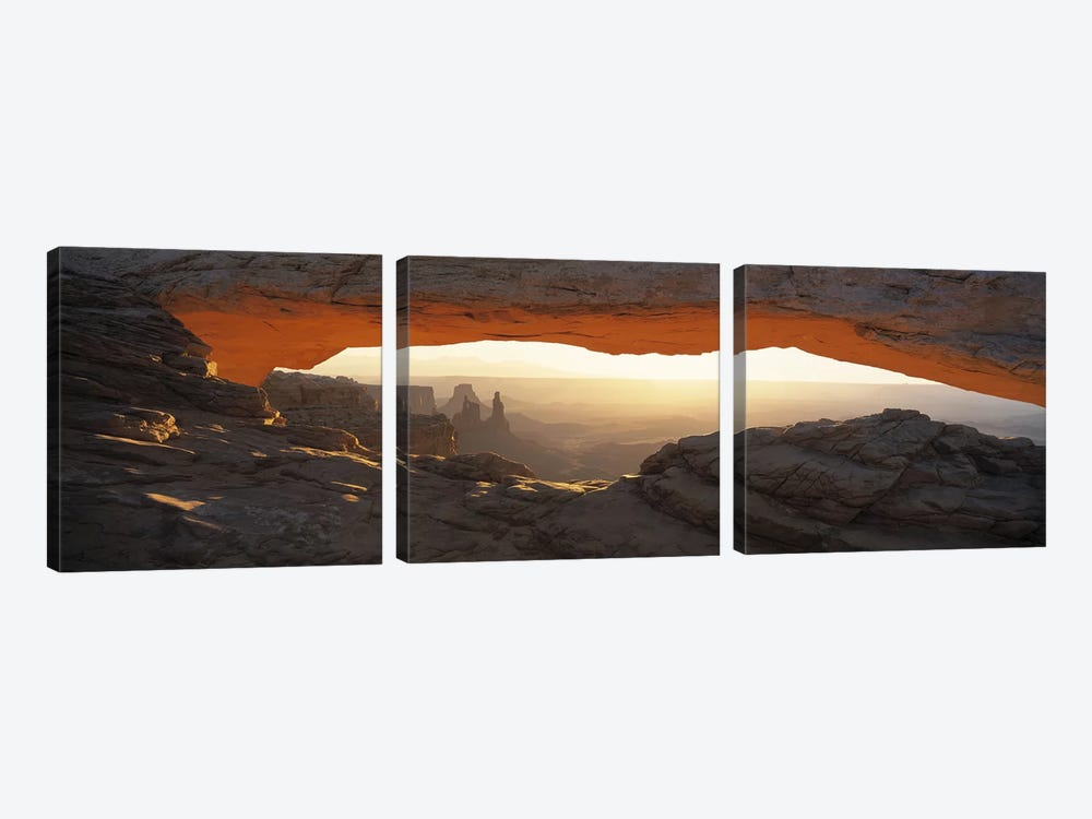 Glowing Daytime View Through Mesa Arch, Canyonlands National Park, Utah, USA by Panoramic Images 3-piece Art Print
