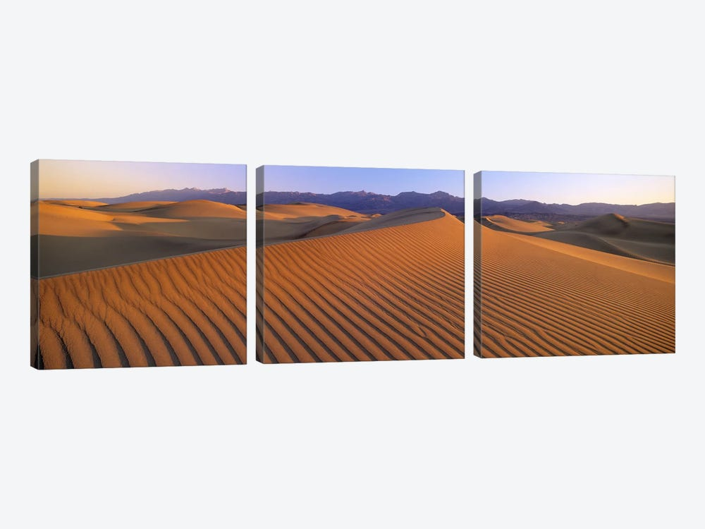 Windswept Sand Dunes, Death Valley National Park, USA by Panoramic Images 3-piece Canvas Wall Art