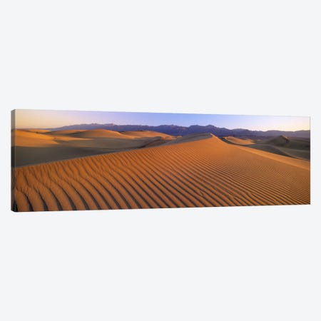 Windswept Sand Dunes, Death Valley National Park, USA 3-Piece Canvas #PIM2734} by Panoramic Images Canvas Art