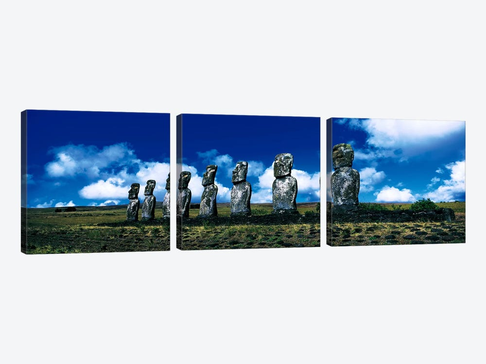 Easter Island Chile by Panoramic Images 3-piece Canvas Print