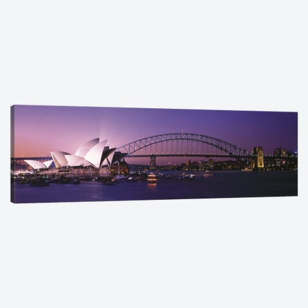 Opera House Harbour Bridge Sydney Australia Canvas Print #PIM2736} by Panoramic Images Canvas Wall Art