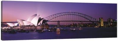 Opera House Harbour Bridge Sydney Australia Canvas Print #PIM2736