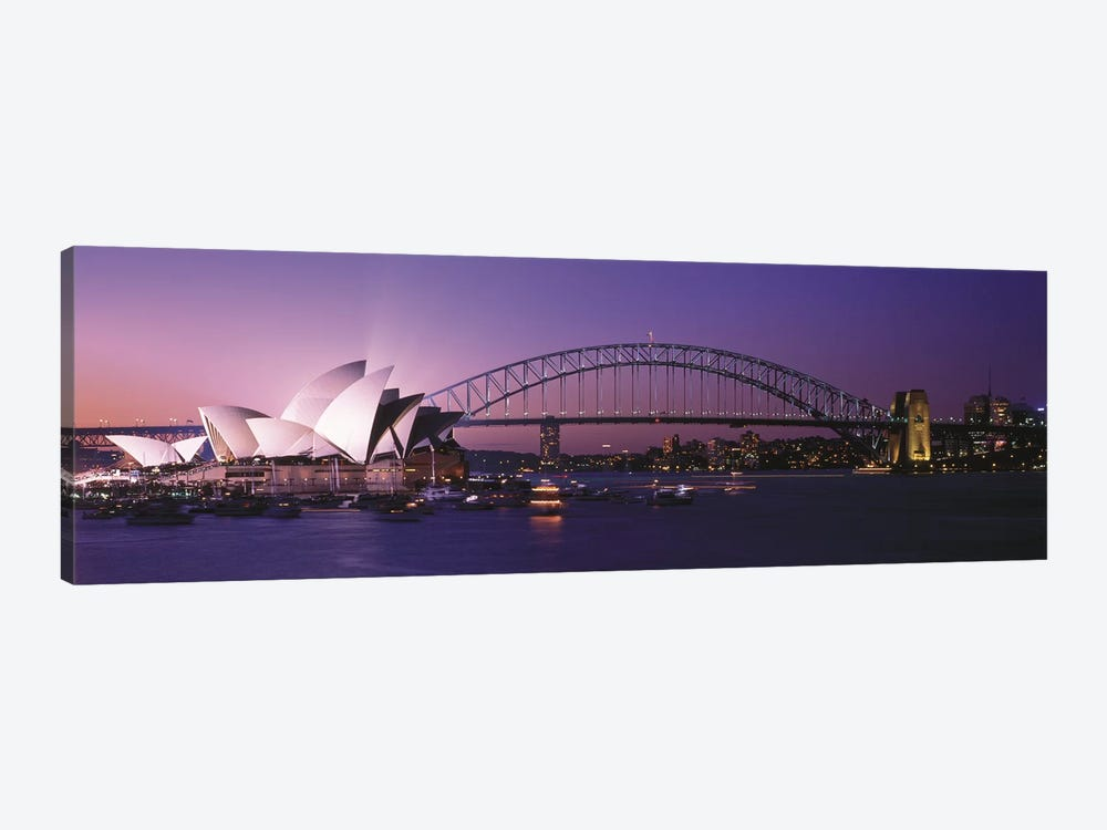 Opera House Harbour Bridge Sydney Australia by Panoramic Images 1-piece Canvas Wall Art