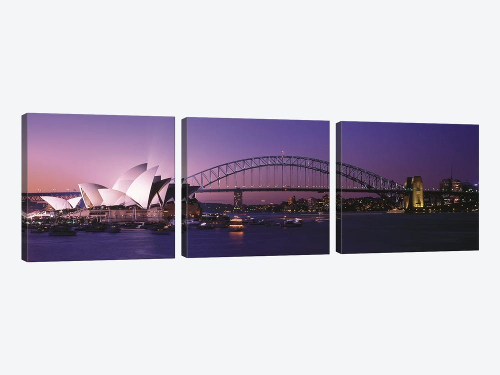 Opera House Harbour Bridge Sydney Australia by Panoramic Images 3-piece Canvas Wall Art