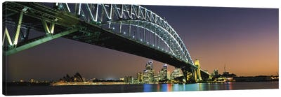 Skyline Harbour Bridge Sydney Australia Canvas Print #PIM2737