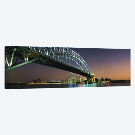 Skyline Harbour Bridge Sydney Australia Canvas Print #PIM2737} by Panoramic Images Canvas Art