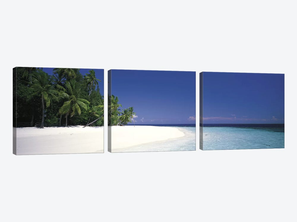 White Sand Beach Maldives by Panoramic Images 3-piece Canvas Art Print