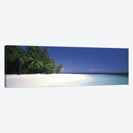 White Sand Beach Maldives Canvas Print #PIM2739} by Panoramic Images Canvas Print